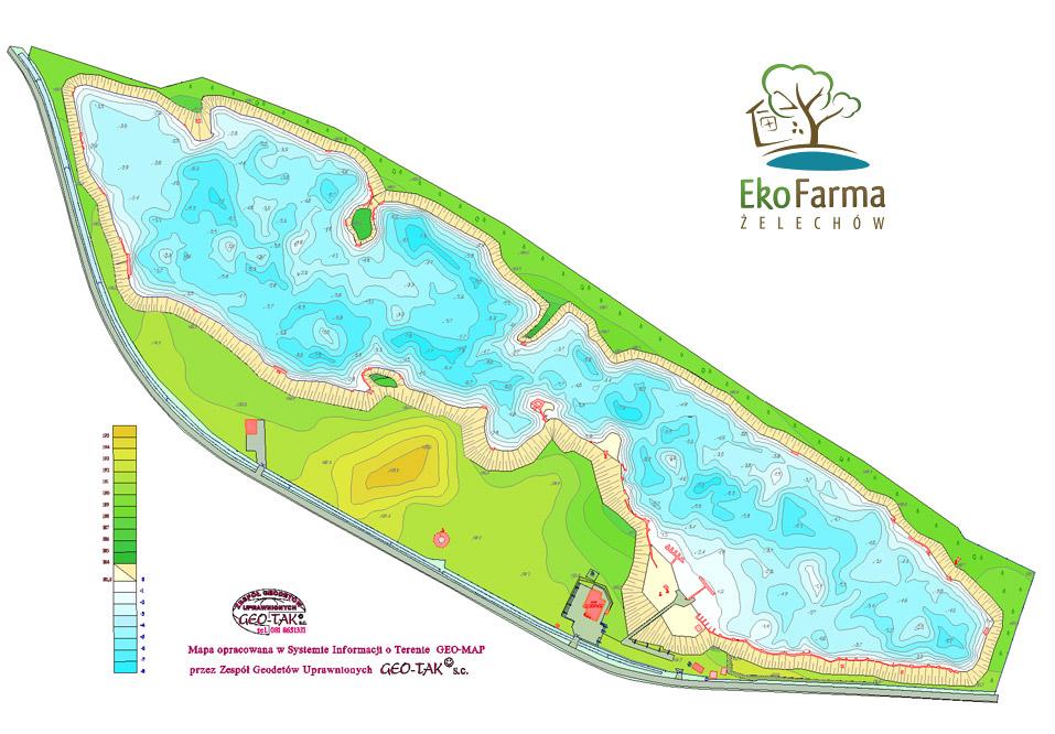 eko farma żelechów mapa łowiska