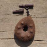 bezpieczny klips karpiowy brązowy