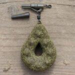 karpiowy bezpieczny klips z bolcem zielony