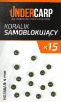 koralik samoblokujacy zielony 4 mm