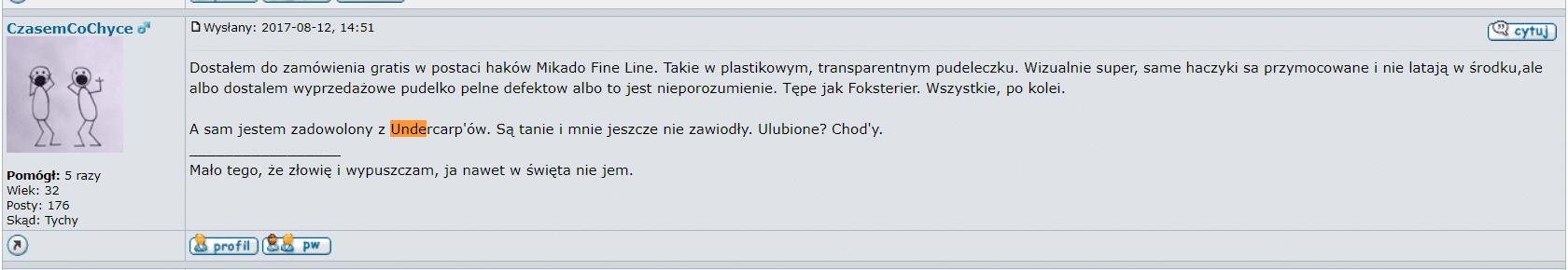 haki karpiowe undercarp opinia z forum-karpiowePL