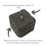 obciążenie do markera karpiowego – naturalny kamień